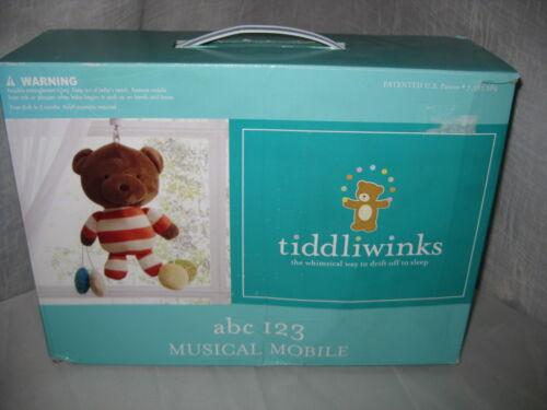 NEW TIDDLIWINKS ABC 123 BABY NURSERY SET BUMPER CRIB SHEET MOBILE WALL ARTS 6 PC