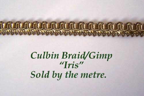 "Light Green upholstery Gimp//Braid /""Iris/"" 10mm. sold by the Metre"