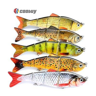 1PC Multi Jointed Fishing Lures Swimbait Life-like 4 Section Sinking Tackle 12cm