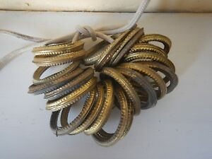 21 Antique French brass Curtain Rings