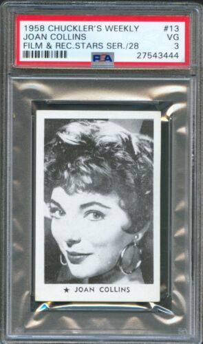 1958 Chuckler's Weekly Insert Card #13 JOAN COLLINS The Bravados DYNASTY PSA 3