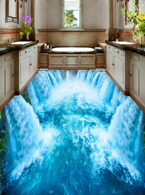 3D Great Falls Nature 47 Floor WallPaper Murals Wall Print Decal AJ WALLPAPER CA