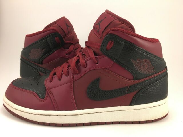 best cheap ed658 3f34c Nike Air Jordan 1 Mid Team Red/Black-White Men's Basketball Shoes  554724-601 8.5
