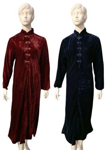 Donna Pull On pulsante Velour Vestaglia Accappatoio Nightwear due colori quattro taglie