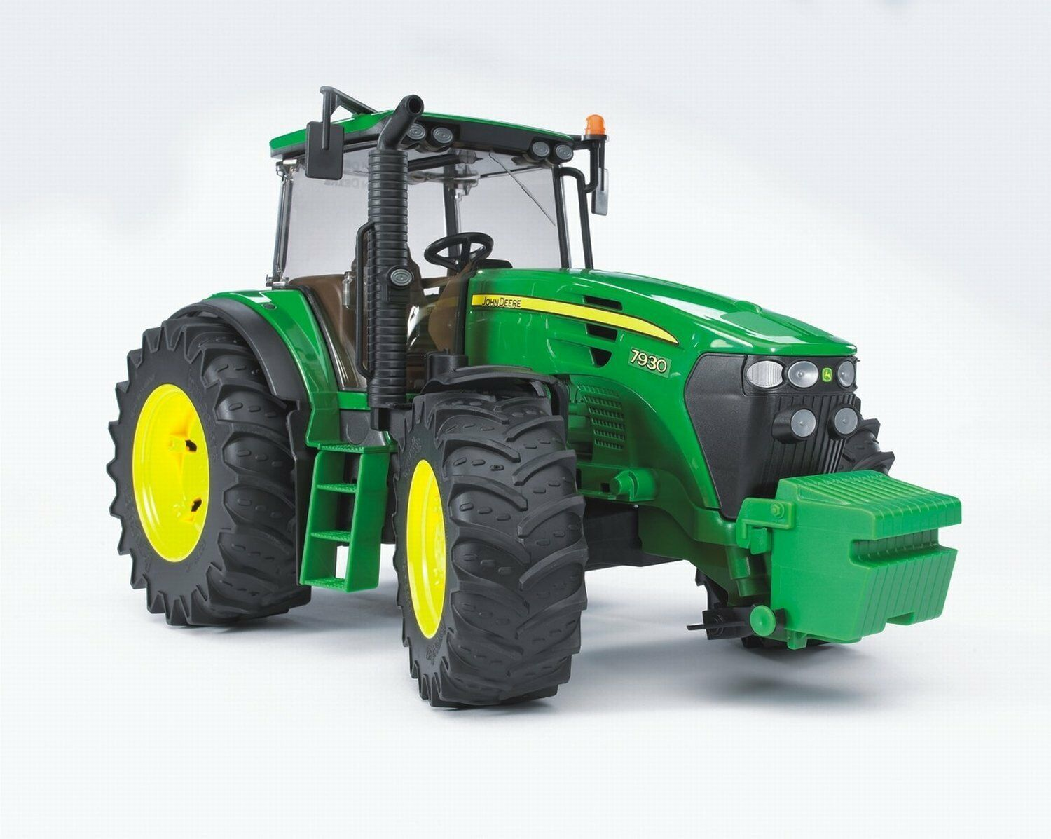 Bruder Toys John Deere 7930 tractor - green toy tractor, scale 1 16 - 03050