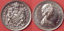 Brilliant Uncirculated 1978 Canada Round Jewels 50 Cents From Mint's Roll