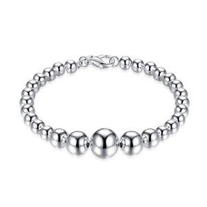 Bracelet-argent-034-Perles-d-039-Argent-Mod-n-3-034-Envoi-de-France-immediat