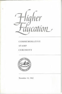 #1206 First Day Ceremony Program 4c Higher Education Stamp