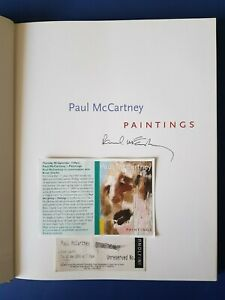 SIGNED Paul McCartney Paintings + Bristol Arnolfini book launch ticket autograph