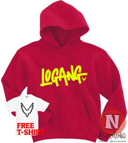 Logang Hoodie Logan Jake Paul JP JPX kids Adults top Hoody Maverick Youtubers