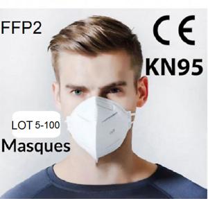 Masques de protection en tissu FFP II Masques faciaux FRANCE certifié CE