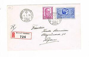 Suisse R-lettre Recommandé Suisses Postmuseum Berne Mif Minr 315 + 319-afficher Le Titre D'origine