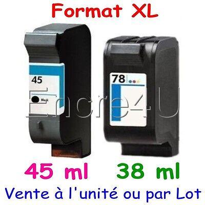Cartouches d'encre compatibles DeskJet 1280 1600 3820 6120 ( HP 45 XL HP 78 XL )
