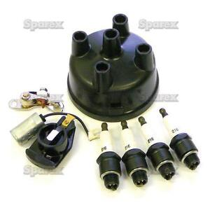ford tractor ignition tune up kit w plugs cap 600 601. Black Bedroom Furniture Sets. Home Design Ideas