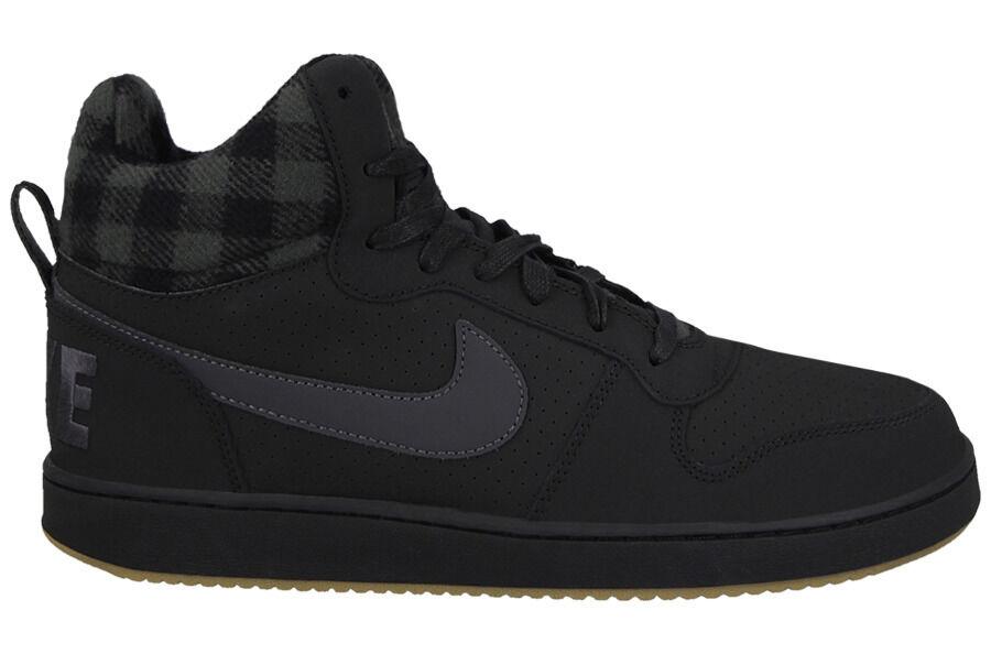 the latest 4825e d6d82 Nike Court Borough Mid Mid Mid Prem Mens Shoes Black Anthracite Gum Brown  002