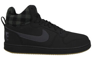 huge discount b29af e11f8 Image is loading Nike-Court-Borough-Mid-Prem-Mens-Shoes-Black-