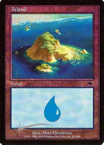 Island #337 Onslaught Various conditions Foil MTG