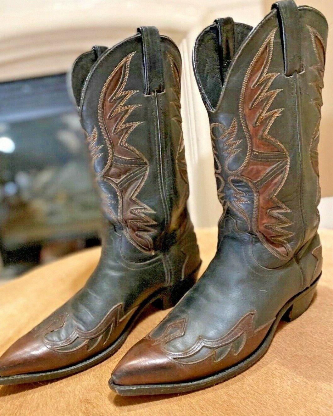 Men's CODE WEST (Style 54259) Two-Tone Cowboy Boots, 9.5D.