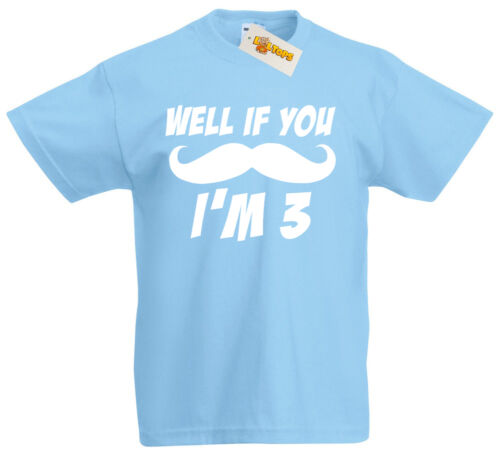 3rd Birthday If Must Ask I/'m 3 T-Shirt girls Xmas Gifts for 3 year old boys