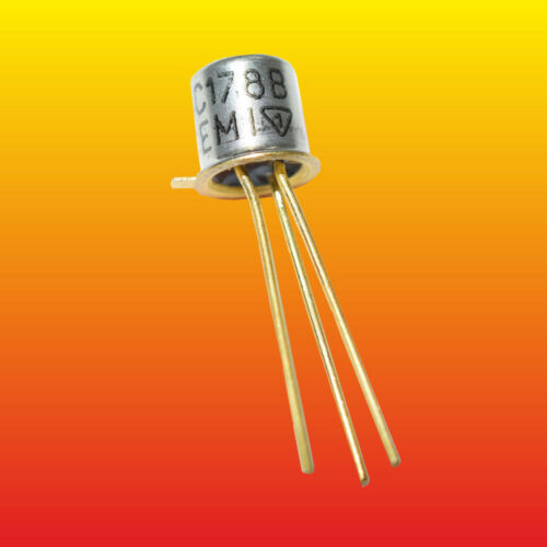 BC178B LOT OF 10 CEMI SILICON PNP GOLD-PLATED TRANSISTOR 0.3W 0.2A