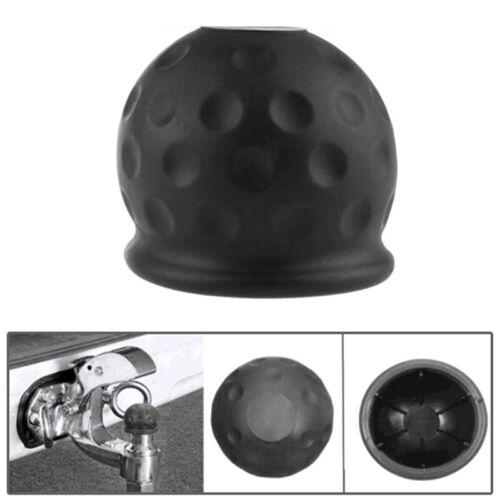 Universal 50mm Black Tow Bar Ball Cover Cap Towing Hitch Caravan Trailer PrODUK