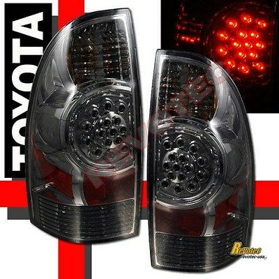 Smoke LED Tail Lights Brake Lamps RH & LH For 2005-2015 Toyota Tacoma