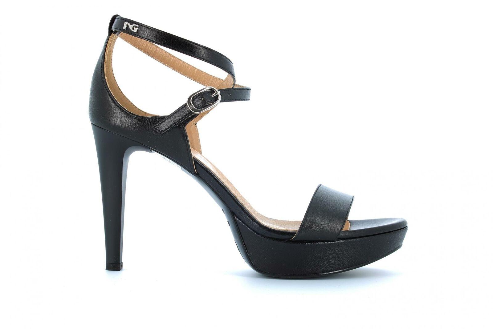 Sandalias de jardín mujer negra tacones altos p908470de   100 p19