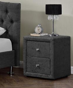 2-Drawers-Velvet-Linen-Fabric-Bedside-Table-Nightstand-Bedroom-Night-Table