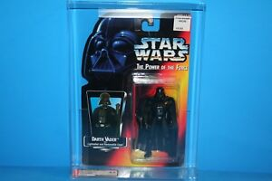 Star Wars Afa classé 95 Potf Mint sur Figurine Carte Darth Vader Long Sabre Laser 8.5