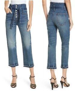 Veronica-Beard-298-Marlene-12-Corset-Waist-Straight-Leg-Jeans-Size-31-Terrain