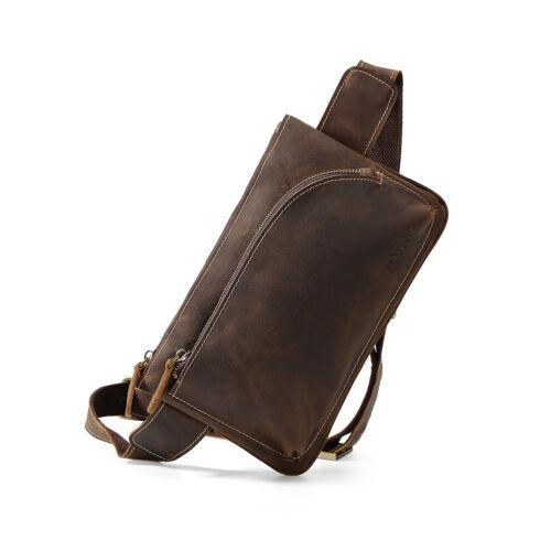 Bag Gürteltasche Tasche Sling Brust Herren Umhängetaschen Leder Gürtel FwqBUU