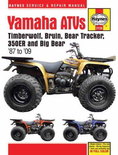 Details about 1987-2009 Yamaha Timberwolf Timber Wolf Big Bear 250 on