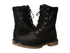 Brand-New-Timberland-Women-039-s-Femmes-Auth-open-Weave-Black-Boot-Sz-7-5US-38-5EUR