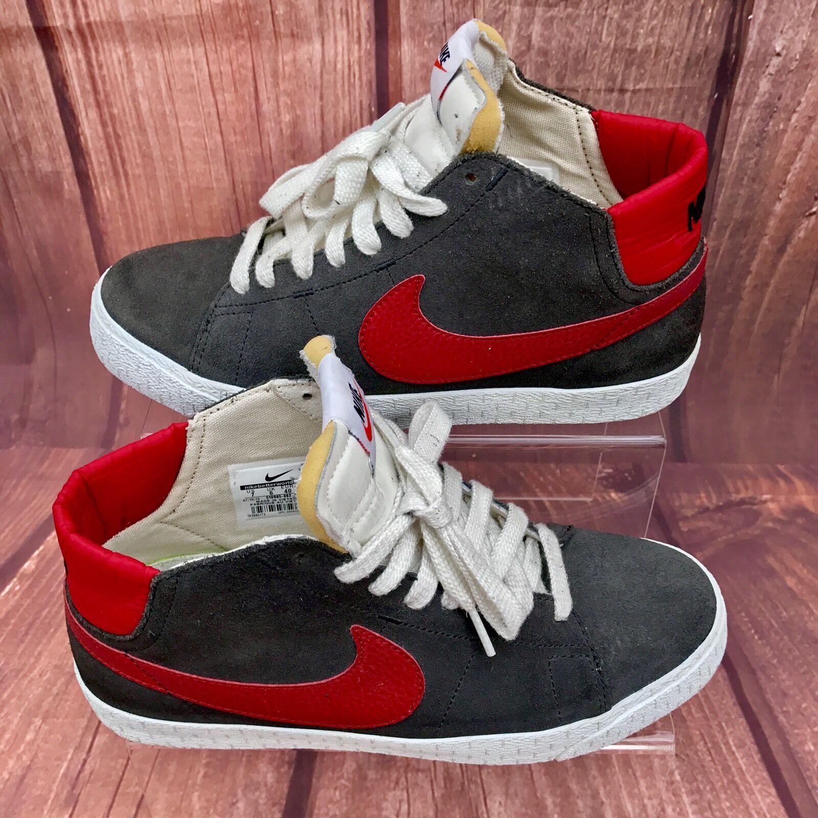 Nike Blazer LR Mid Zapatillas Mujer hombres gris 2018 blanco rojo retro zapatillas 2018 gris VGC el último descuento zapatos para hombres y mujeres 1c0636