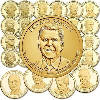 BONUS 2007 to 2016 Philadelphia Presidential Dollar 38 coins 9  YEARS SET