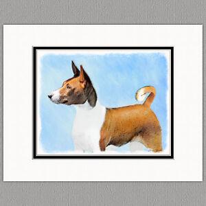 Basenji-Original-Art-Print-8x10-Matted-to-11x14