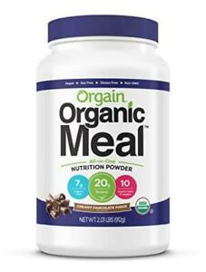 2 Orgain Organic Plant Based Meal Replacement Powder, Creamy Chocolate Fudge