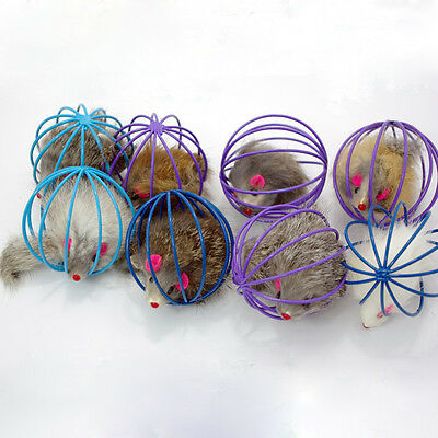 Fun Gift Play Playing Toys False Mouse in Rat Cage Ball For Pet Cat Kitten IDXX