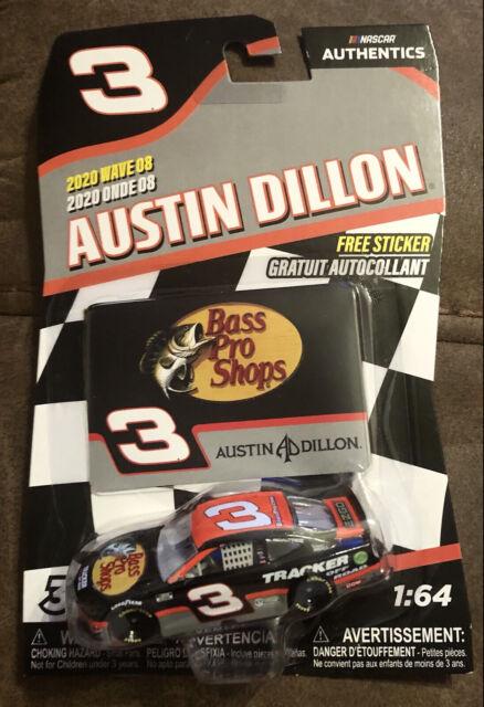 NASCAR Authentics Wave 8 Austin Dillon #3 Bass Pro Shops CAMARO 1/64 Diecast