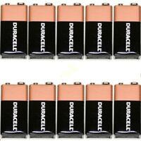 10 Duracell oem 9V Batteries  MN1604 6LR61 PP3 Battery