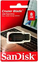 Sandisk Cruzer Blade 8gb Usb Flash Drive Thumb Pen Memory Stick 2.0 Lot Of 3