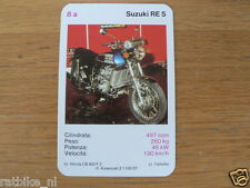 EASY RIDER 8A SUZUKI RE5 WANKEL KWARTET KAART, QUARTETT CARD,SPIELKARTE
