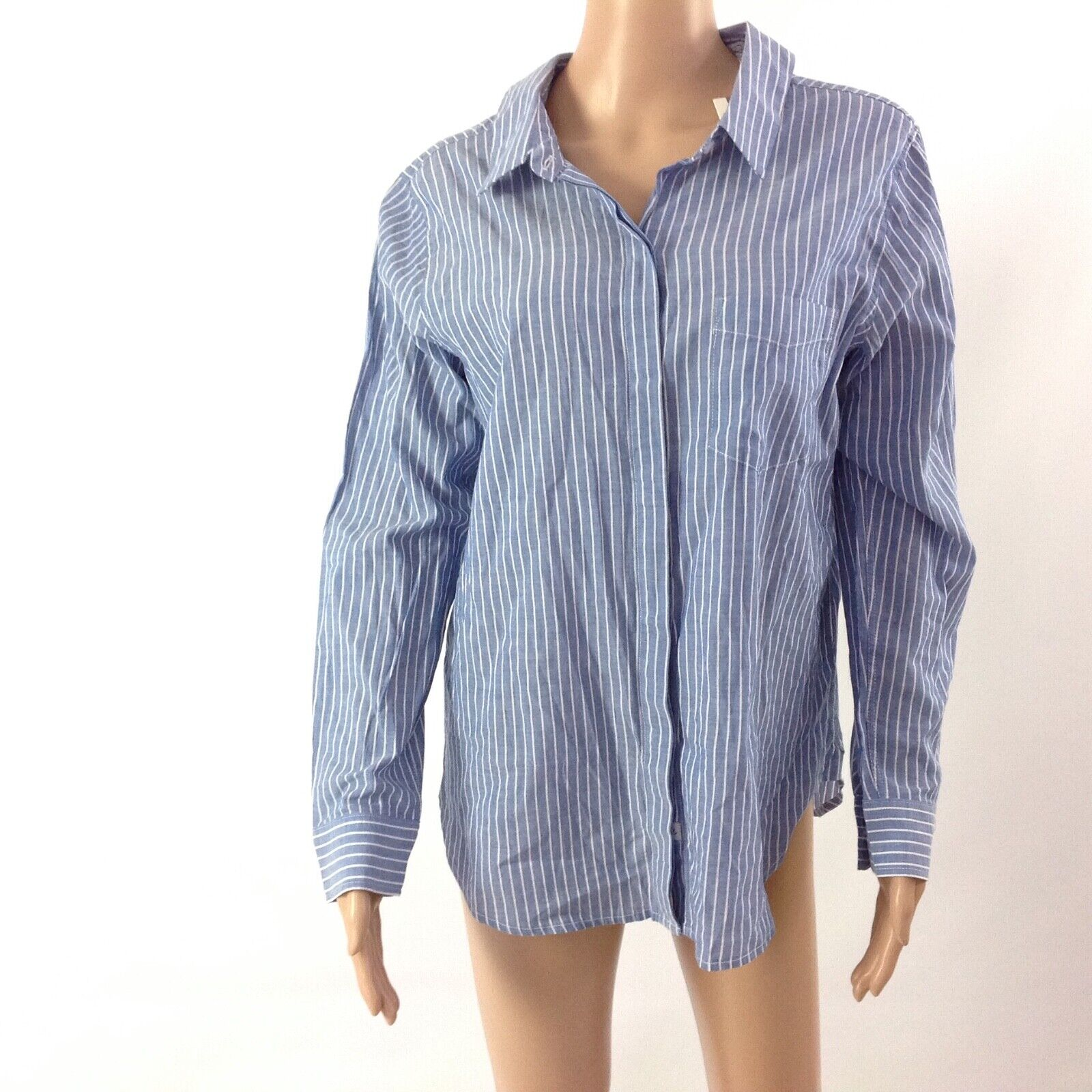 Anthropologie Rails damen Mimi Striped Shirt Blau Weiß Größe M Tie Back New