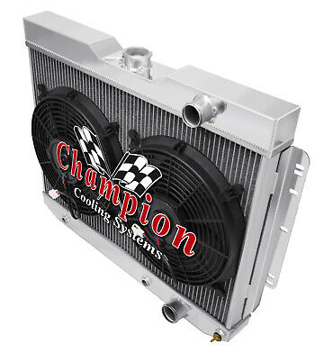 "2 Row 1/"" AL Champion Radiator for 1989-1996 Chevy Corvette V8 Engine"
