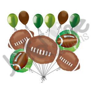11 Pc Football Field Balloon Bouquet Decoration Foot Ball