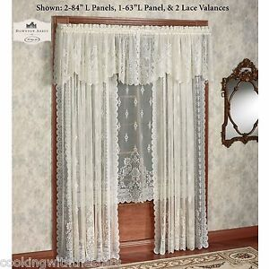 Downton Abbey Milady Collection Victorian Lace Valance