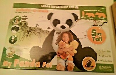 Brown inflate-a-mals Soft and Cuddly Inflatable Large Stuffed Bear 5-Foot