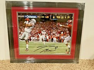 Vonn Bell #11 signed Ohio State Buckeyes 16x20 FRAMED photo COA vs. Alabama