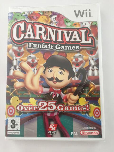 Carnival Amusant Juste Jeux Over 25 jeux Pour Nintendo Wii (neuf et scellé)