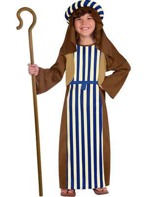 Shepherd Costume Nativity Joseph Innkeeper Childs Kids Boys Fancy Dress Costume
